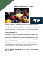 Buah Dan Sayuran Yang Bersifat Alkali