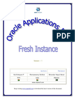 Oracle Applications R12 û Fresh Instance