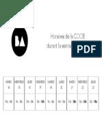 Horaires COOB Semaine Blanche (PDF)