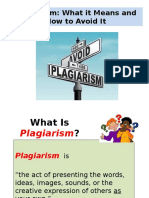 Week 3 - Notes to Be Given to Students on Avoiding Plagiarism Workshop Amended by TLSH