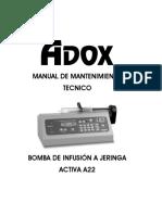 Manual de Mantenimiento Bomba Activa a22