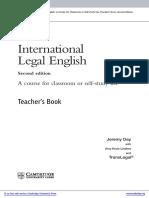 International Legal English2 Upper Intermediate Teachers Book With Audio Cds Frontmatter