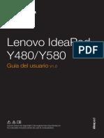 Manual de usuario Y580 Lenovo