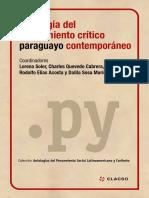 Antología Del Pensamiento Crítico Paraguayo Contemporáneo