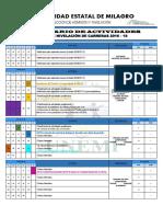 Calendario de Actividades 2016-1s