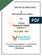M.tech Mechanical (Design) Sem I