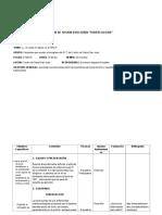 Plan de Sesion Educativa Tbc