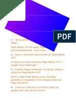 Papa bento XVI - Joana (5ºE)