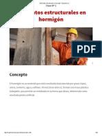 Elementos Estructurales en Hormigón - Maestrísimo