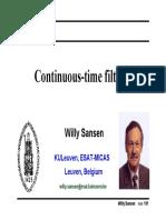 willy sansen CT filters