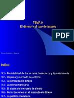Tema_9. El Dinero y El Tipo de Interes