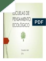 P_2 Escuelas de Pensamiento Ecológico