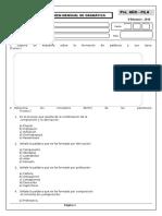 Examen Mensual de Gramatica Pre - Seccundaria .Doc