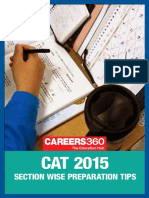 CAT 2015 Section Wise Preparation Tips