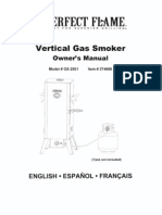 Perfect Flame Vertical Gas Smoker GS-2001 Owners Manual