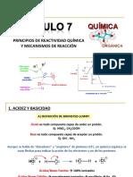 PRINCIPIOS DE REACTIVIDAD QUIMICA Y MECANISOS DE REACCION