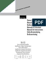 Rotel user manual