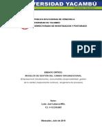 MODELOS DE GESTIÓN DEL CAMBIO ORGANIZACIONAL