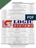 IEEE 2015 JAVA Projects List