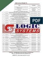 IEEE 2014 JAVA Projects List
