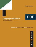 Agamben Giorgio Language and Death