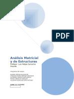 Análisis Matricial y de Estructuras