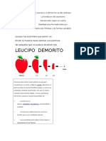 A Leucipo y a Democrito Se Des Atribuye