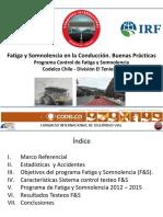Fatiga Somnolencia en La Conduccion. Buenas Practicas (Alejandro Pena, CODELCO Division El Teniente)