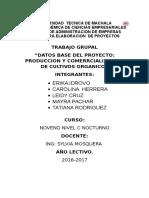 Datos Base Del Proyecto