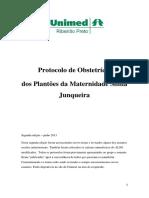 Protocolo de Obstetricia Dos Plantoes Da Maternidade Sinha Junqueira