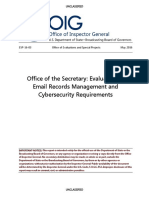 2016-05-23 U.S. Department of State Inspector General - Email Records Management and Cybersecurity Requirements (ESP-16-03)