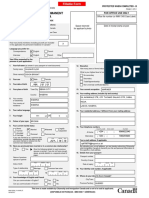 Permanent Residence Application Form - IMM 0008-Generic