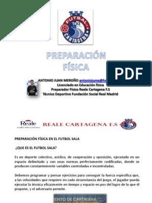 Preparación Física En El Fútbol Sala Asociación De Futbol Educación Física