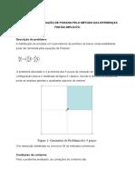 2014 - Equação de Poisson - Método Das Diferenças Finitas Implícito e Crank Nicolson