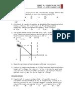 Tutorial 1-Mechanics II