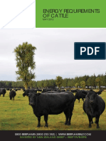Energy Requirements of Cattle Nz