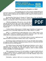 july02.2016JobStart Philippines Program now Republic Act 10869