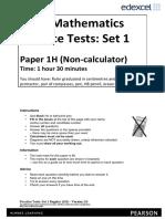 04a Practice Test Set 1 - Paper 1H