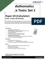 05a Practice Test Set 1 - Paper 2H