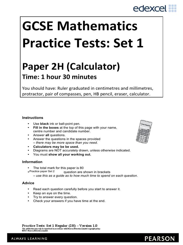 05a Practice Test Set 1 Paper 2h