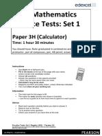 06a Practice Test Set 1 - Paper 3H