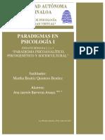 Ensayo Paradigmas en Psicología