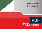 manual de usuario zanella rx 150