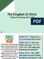 Concerning Christ Kingdom