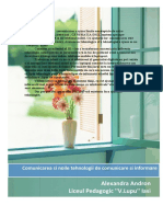 Comunicarea Si Noile Tehnologii De Comunicare Si Informare
