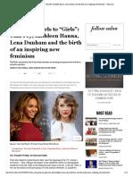 "From Riot Grrrls to ""Girls""_ Tina Fey, Kathleen Hanna, Lena Dunham and the Birth of an Inspiring New Feminism - Salon"