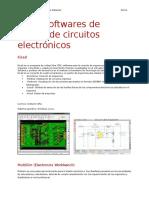 Otros Softwares de Diseño de Circuitos Electrónicos