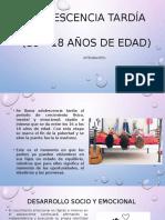 ADOLESCENCIA TARDÍA (3)