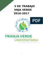 Franja Verde Plan de trabajo 2016-2017