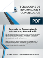 Tecnologias de Informacion y Comunicacion